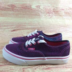 Vans Girl's Sk8 Skate Low Glitter Sneaker 2 Purple
